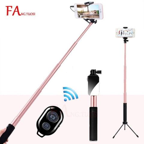Selfie Stick Bluetooth, BlitzWolf 35 inch Super Long Extendable Selfie Stick with Wireless Remote and Tripod for all phone models - A-Z amazing