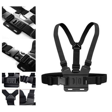 Chest Strap mount belt for Gopro hero 7 6 5 Xiaomi yi 4K Action camera Chest Mount Harness for GoPro SJCAM SJ4000 sport cam fix - A-Z amazing