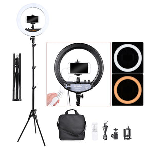 FT-240RL 14 inch Photographic Light Ring lamp 240 led Ring Light Tripod Stand&Remote For Camera Phone Video Photo studio - A-Z amazing