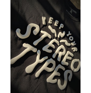 Keep Your Stereotypes - Black Puff Tee - I Refuse To Be Normal
