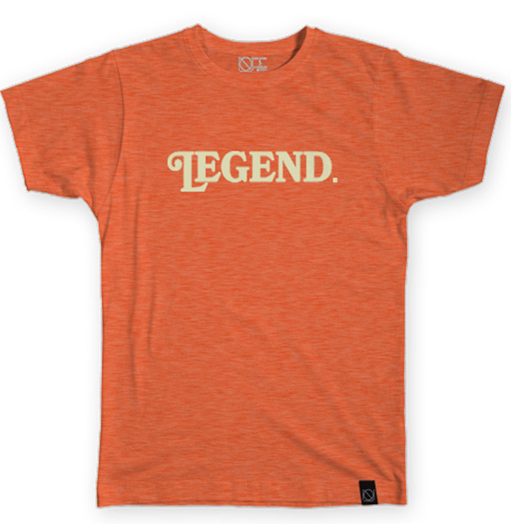 Legend. Tee - Cream and Heather Orange - I Refuse To Be Normal