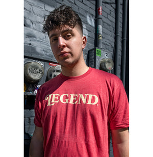 Legend. Tee - Cream and Heather Red - I Refuse To Be Normal