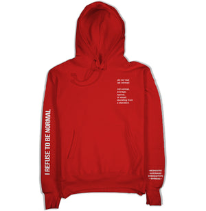 I Refuse To Be Normal - Definition Pullover Hoodie (Red) - I Refuse To Be Normal