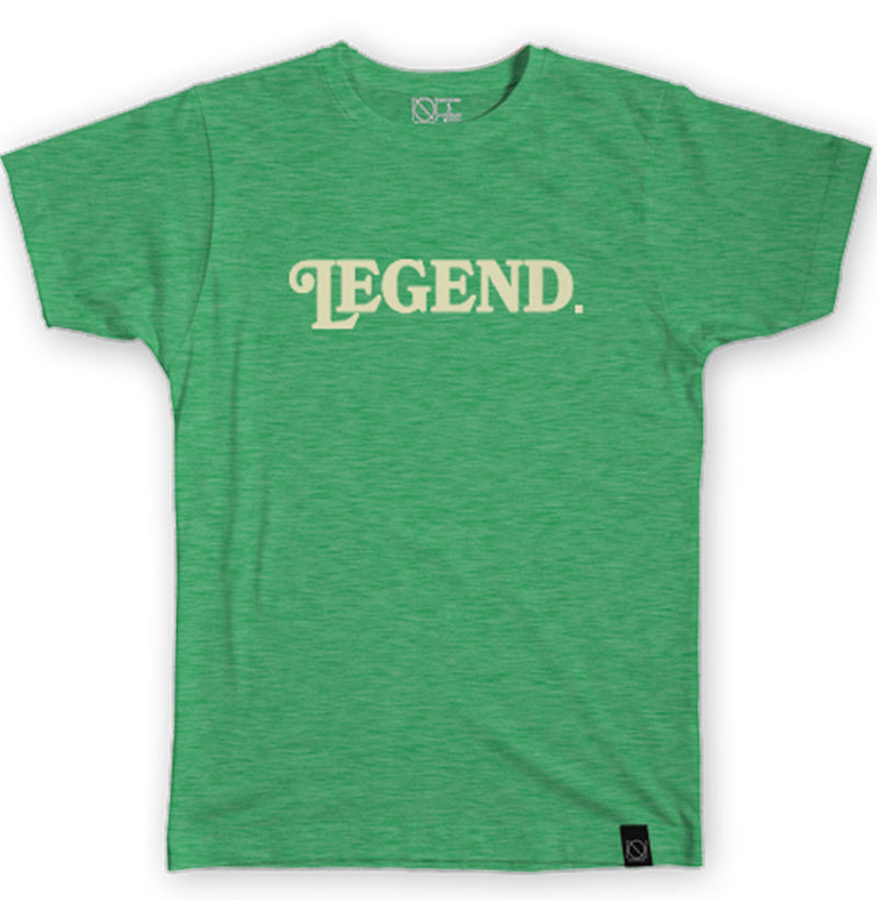 Legend. Tee - Cream and Heather Green - I Refuse To Be Normal