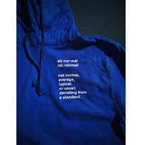 I Refuse To Be Normal - Definition Pullover Hoodie (Blue) - I Refuse To Be Normal