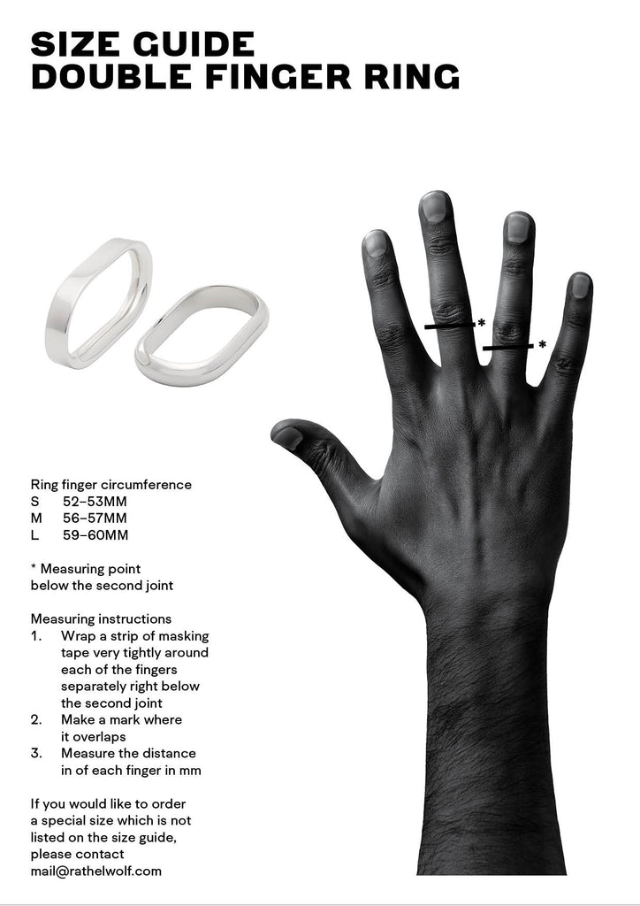 size guide double ring