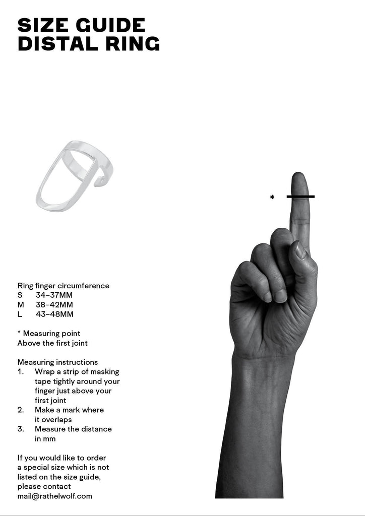 size guide, distal ring