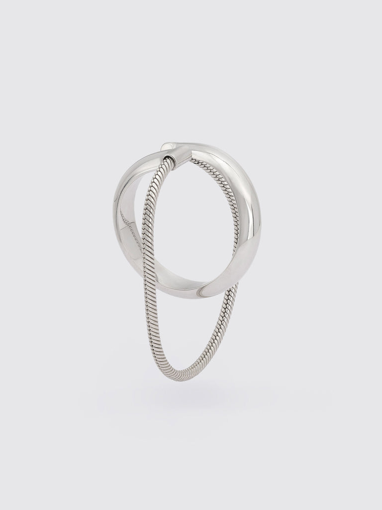 ROSALINDE mid-size hoop w chain