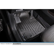 SMARTLINER Custom Fit for 2014-2015 Kia Sorento (with 3rd Row Seats) - Black / 2 Row Floor Mat Liner Set & Cargo Liner Behind the 2nd Row - Smartliner USA