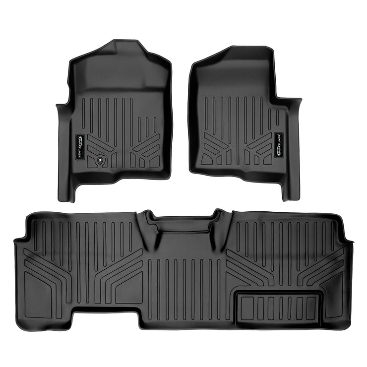 SMARTLINER Custom Fit for 2009-2010 Ford F-150 SuperCab Non Flow-Through Center Console - Smartliner USA