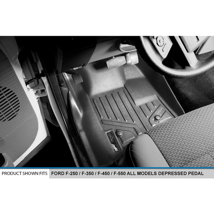 SMARTLINER Custom Fit for 2011-2012 F-250/F-350 Super Duty SuperCab with Depressed Drivers Side Pedal - Smartliner USA