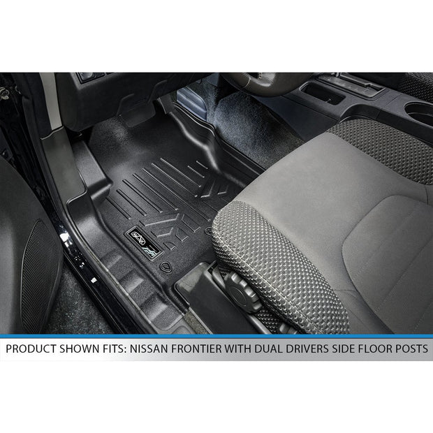 SMARTLINER Custom Fit for 2008-2019 Nissan Frontier with Dual Drivers Side Floor Posts - Smartliner USA