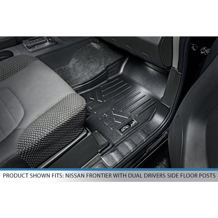 SMARTLINER Custom Fit for 2008-2019 Nissan Frontier Crew Cab with Dual Drivers Side Floor Posts - Smartliner USA