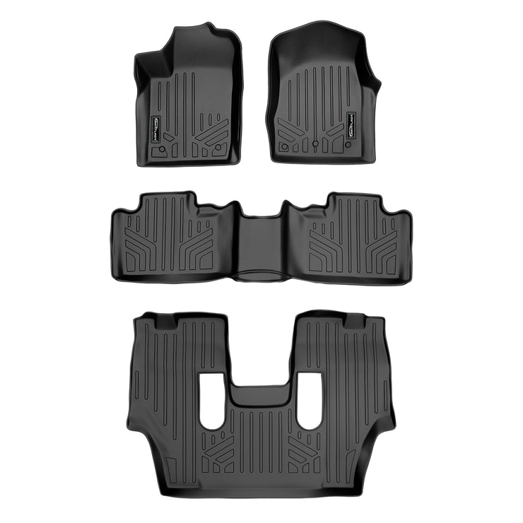 SMARTLINER Custom Fit for 13-16 Durango with 1st Row Dual Floor Hooks & 2nd Row Bucket Seats - Smartliner USA
