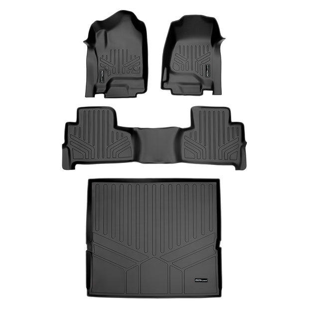 SMARTLINER Custom Fit for 2015-2020 Chevy Tahoe / GMC Yukon With 2nd Row Bucket Seats