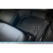SMARTLINER Custom Fit for 2012-2018 RAM 1500 Quad Cab with 1st Row Bench Seat and Dual Floor Hooks - Smartliner USA
