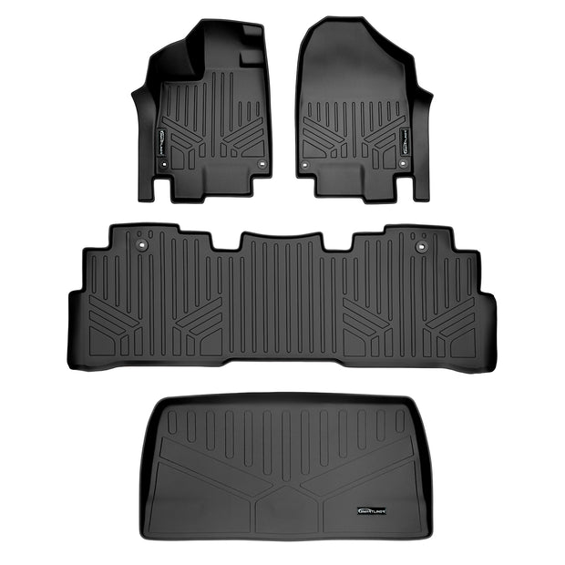 PantsSaver Custom Fit Automotive Floor Mats for Honda Odyssey 2020 All Weather Protection for Cars Trucks Heavy Duty Total Protection Black Van SUV