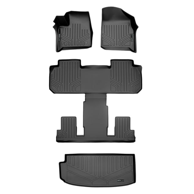 SMARTLINER Custom Fit for 2018-2020 Chevrolet Traverse with 2nd Row Bucket Seats - Smartliner USA
