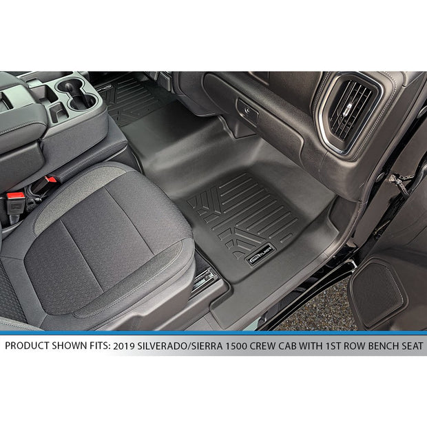 SMARTLINER Custom Fit for 2019-2021 Silverado/Sierra 1500/2500/3500 Crew Cab with 1st Row Bench Seat