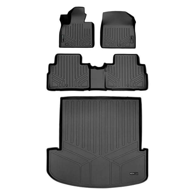 SMARTLINER Custom Fit for 2020 Kia Telluride with 2nd Row Bucket Seats No Center Console and No In Between Coverage - Smartliner USA