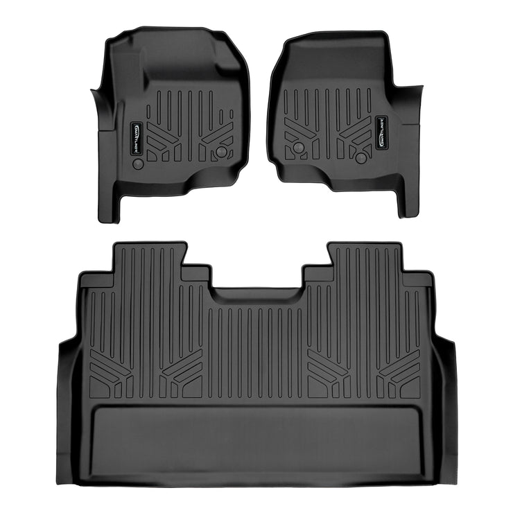 SMARTLINER Custom Fit for 2017-2019 Super Duty Crew Cab with Vinyl Flooring and 2nd Row Bench Seat - Smartliner USA