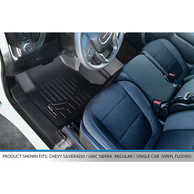 SMARTLINER Custom Fit for 2019-2020 Silverado/Sierra 1500 Regular Cab With Vinyl Flooring (Over the Hump Coverage)
