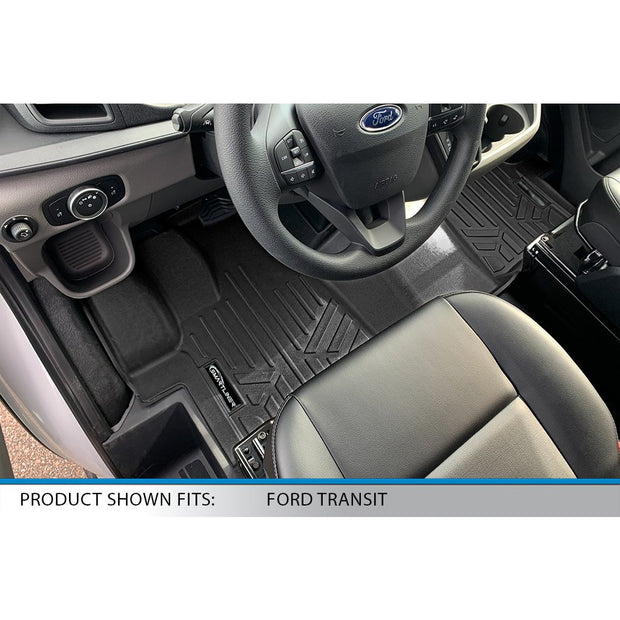 SMARTLINER Custom Fit for 2020-2021 Ford Transit (Vinyl Flooring & Over the Hump)