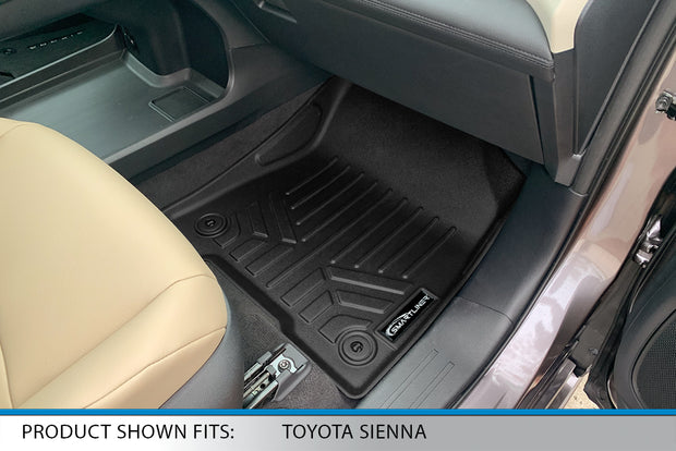 SMARTLINER Custom Fit for 2021 Toyota Sienna with 2nd Row Bench Seat