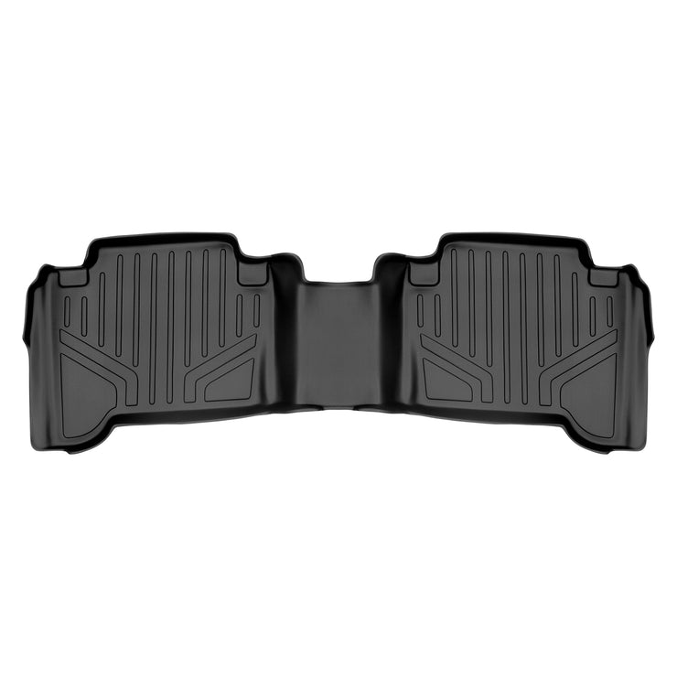 SMARTLINER Custom Fit Floor Mats 2 Row Liner Set Black for 2005-2011 Toyota Tacoma Double Cab No Manuals