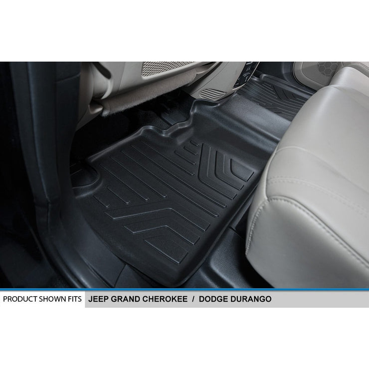 SMARTLINER Custom Fit for 2013-16 Durango with 1st Row Dual Floor Hooks & 2nd Row Bench Seat - Smartliner USA