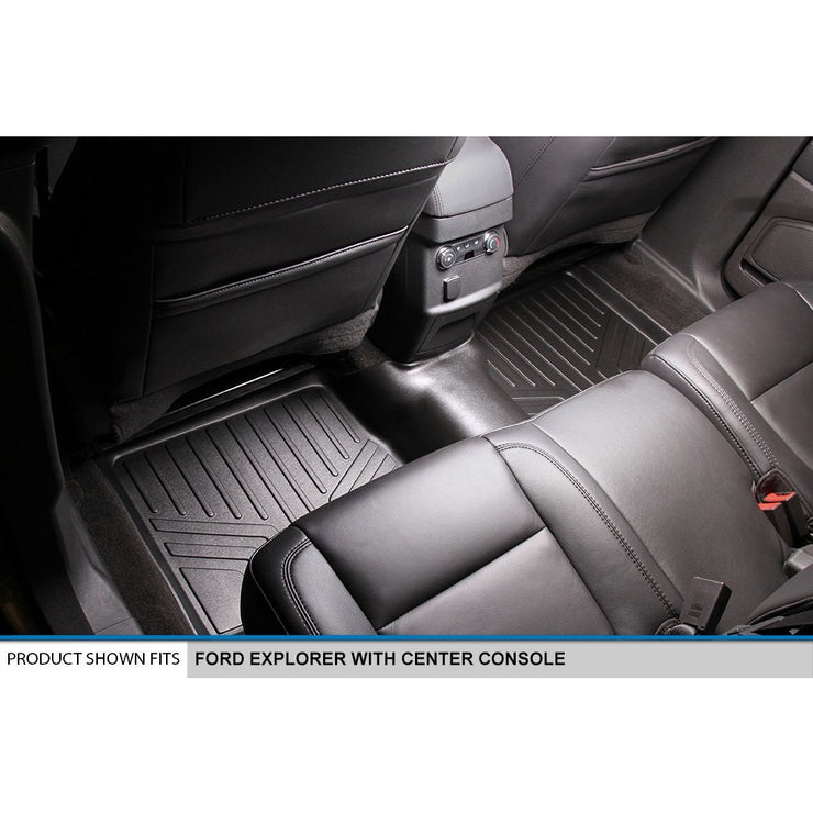 SMARTLINER Custom Fit for 2015-2016 Ford Explorer with 2nd Row Center Console - Smartliner USA