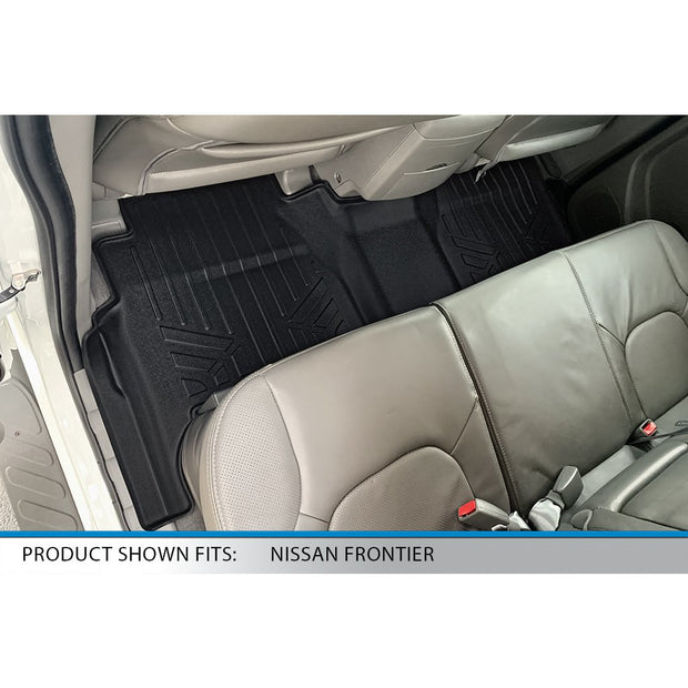 SMARTLINER Custom Fit for 2008-2020 Nissan Frontier Crew Cab with Dual Drivers Side Floor Posts