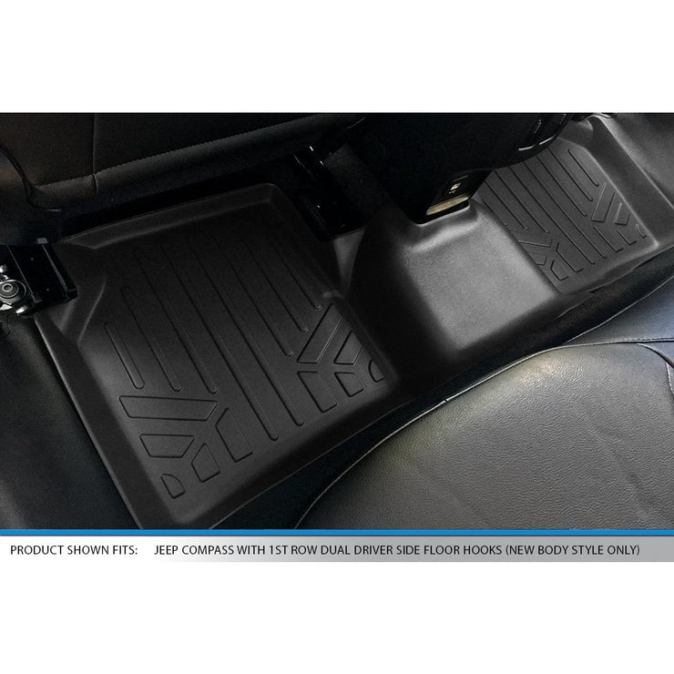 SMARTLINER Custom Fit for 2017-2020 Compass with Dual Driver Side Floor Hooks (New Body Style) - Smartliner USA
