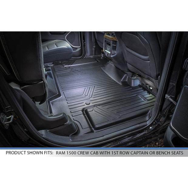 SMARTLINER Custom Fit for 19-20 Ram 1500 Crew Cab Vinyl Flooring without Rear Underseat Storage Box - Smartliner USA