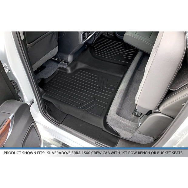SMARTLINER Custom Fit for 2019-2020 Silverado/Sierra 1500/2500/3500 Crew Cab with 1st Row Bench Seat - Smartliner USA