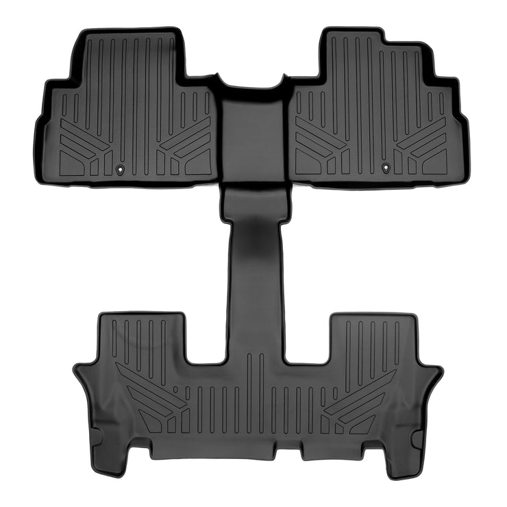 SMARTLINER Custom Fit for 2020 Kia Telluride with 2nd Row Bucket Seat No Center Console with in between Coverage - Smartliner USA