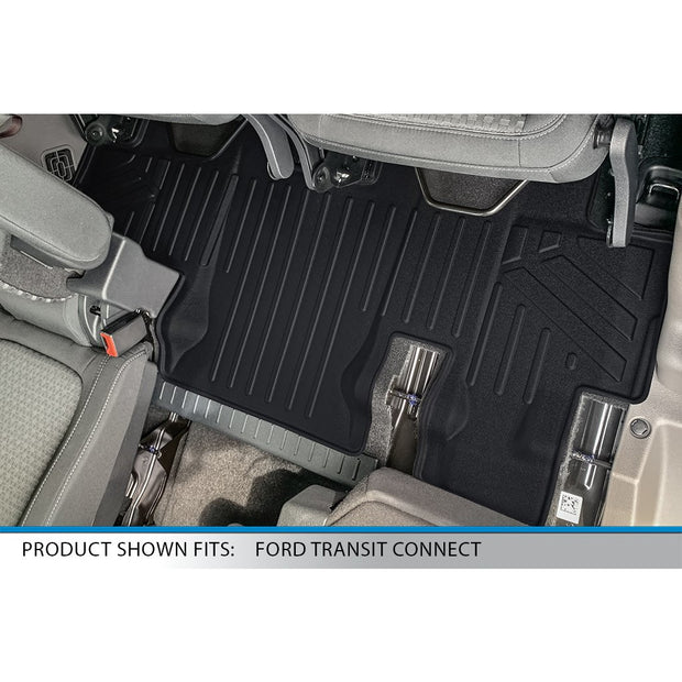 SMARTLINER Custom Fit for 2014-2021 Transit Connect With Carpet Flooring (Long Wheelbase & 2nd Row Bench Seat)
