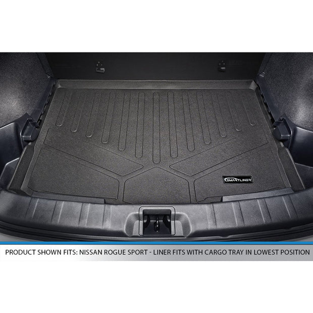 SMARTLINER Custom Fit for 2017-2020 Nissan Rogue Sport - Factory Cargo Tray in Lowest Position