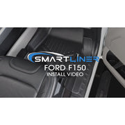 SMARTLINER Custom Fit for 2015-2021 Ford F-150 Regular Cab with Bucket Seats & Vinyl Flooring