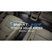SMARTLINER Custom Fit for 2014-2019 Toyota Highlander with 2nd Row Bucket Seats (No Hybrid Models)