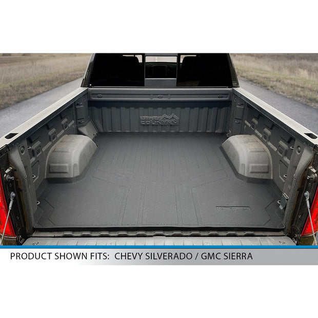 SMARTLINER Custom Fit for 2019-2021 Silverado/Sierra 1500 Crew Cab With 1st Row Bench Seat (No Over the Hump Coverage) & Vinyl Floor