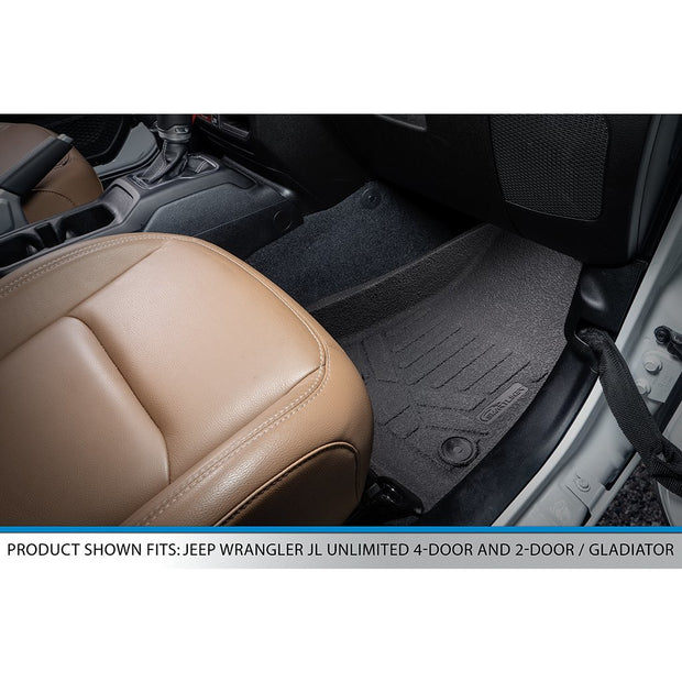 SMARTLINER Rugged Rubber Floor Mats for 2020-2021 Jeep Gladiator