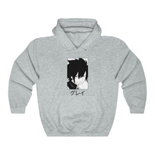 Load image into Gallery viewer, Gray I Manga Hoodie