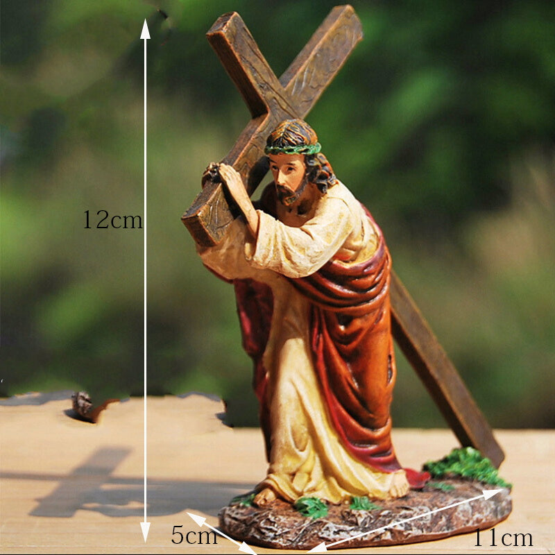 Jesus with Cross Ornament