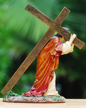 Load image into Gallery viewer, Jesus with Cross Ornament