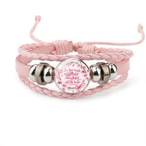 Christian Charm Leather Bracelet