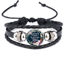 Load image into Gallery viewer, Christian Charm Leather Bracelet