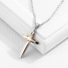 Load image into Gallery viewer, Titanium steel cross pendant
