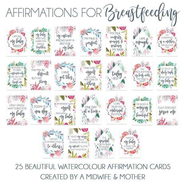 Breastfeeding Affirmations - Printed