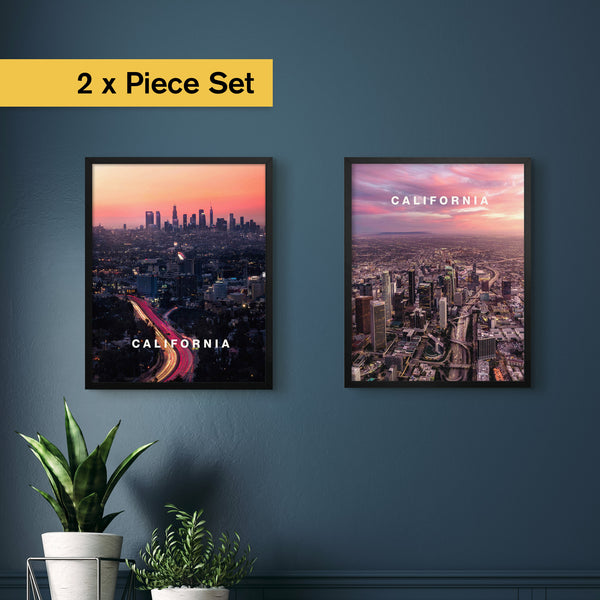 "2 x Los Angeles City Set (12x16"")"